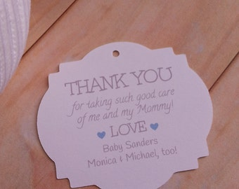 12 Delivery Nurse Thank You Tags, Thank you for Taking Such Good Care of Me and My Mommy Tags, Delivery Thank You Tags, Nurse Thank You Tags