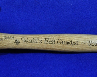 Birthday Gift ~ Gift For Men ~ Gift For Grandpa ~ Gift For Dad ~ Engraved Hammer ~ Grandfather Gift ~ Personalized Hammer ~ Engraved Gifts ~