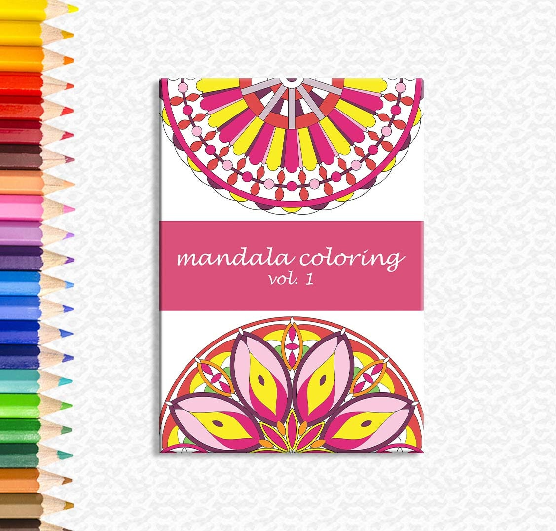 Mandala coloring mandala color book adult coloring sheet