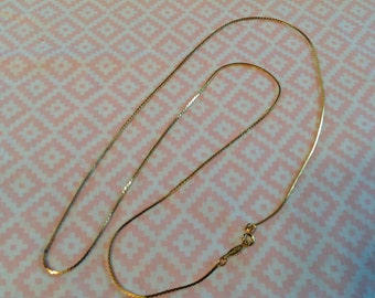 Vintage Napier Chain Necklace, Herringbone Chain Necklace,  Goldtone Herringbone Chain