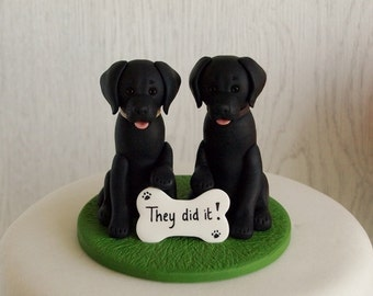 Black Labrador Cake Topper - Dog Cake Topper - Black Lab Cake Topper - Dog Wedding Cake Topper - Custom Labrador Cake Topper - Dog Topper