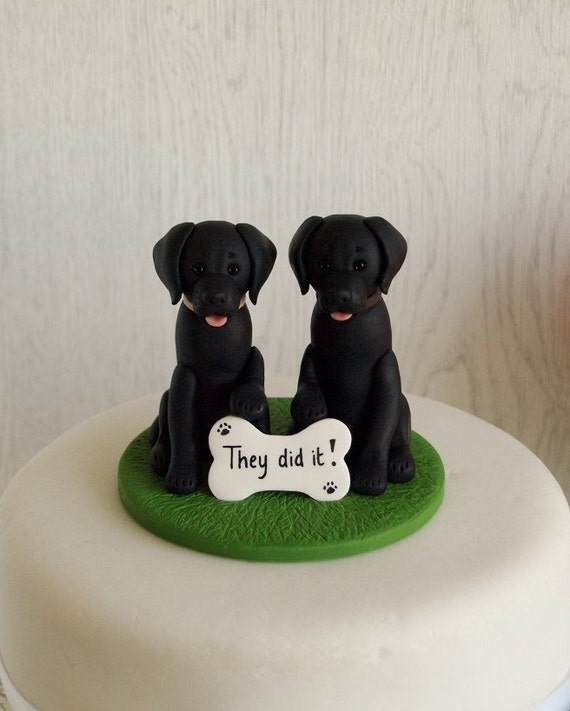 Black Labrador Cake Topper Dog Cake Topper Black Lab Cake