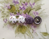 Button Earrings / 2 Pairs / Wholesale Jewelry / Fabric Covered / Stud Earrings / Gifts for Her / Birthday Present