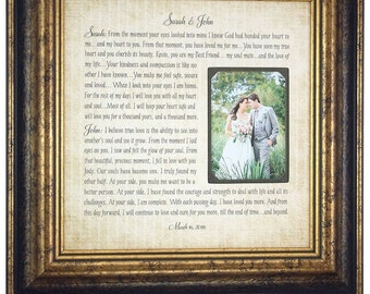 Wedding Anniversary Gift, Wedding Vows, 16x16