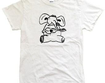 Elephant Playing the Ukulele T-Shirt - Screenprinted