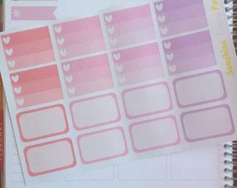 Watercolor Hearts Collection Erin Condren Half box planner stickers!