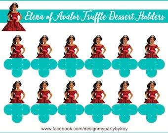 24 ELENA OF AVALOR, Elena Avalor Forminhas, Candy Dessert Holders, Truffle Holders, Chocolate Holders,Disney Princess,Elena Party Favors.