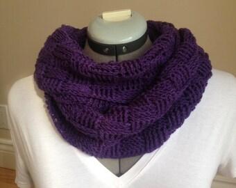 Purple Fine Weave Infinity Scarf