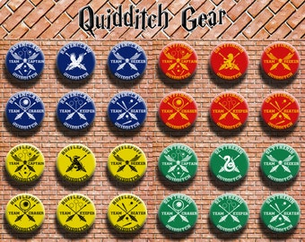 Harry Potter Quidditch Gear 1.25 Inch Buttons