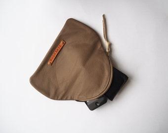 Leather clutch / Makeup bag / Women handbag / Everyday clutch