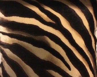 Velvet Zebra Throw Pillow