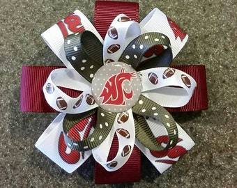 WSU Cougars Hair Bows or Headbands - 2 sizes
