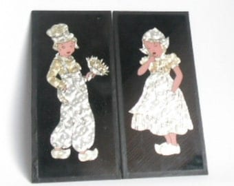 dutch boy and girl wall hangings