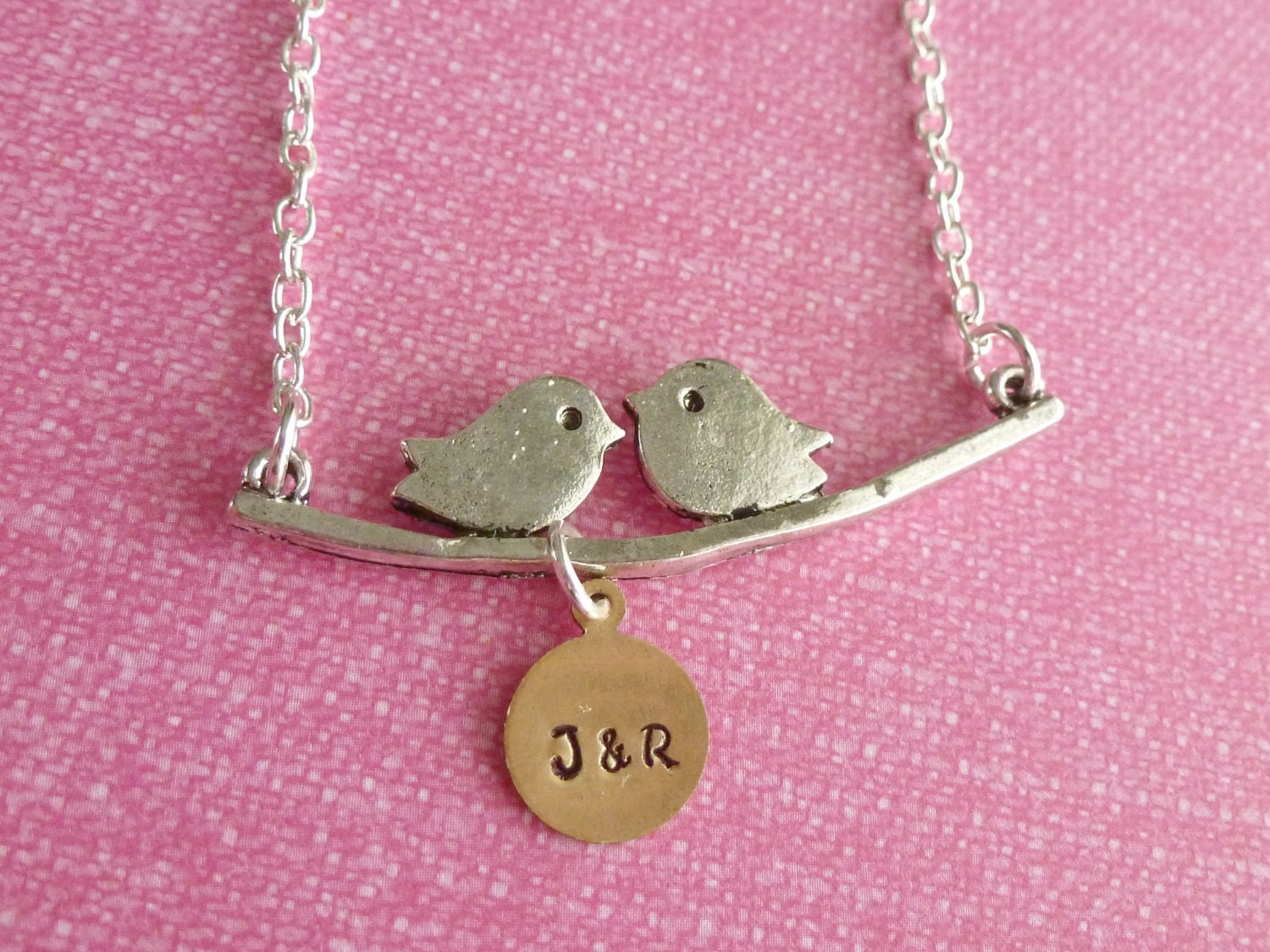 Gifts for her personalized gifts love bird necklace mom gifts for Engravable gifts for her