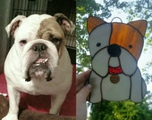 Stained Glass Personalized Bulldog