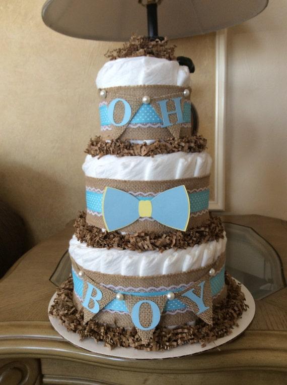 bow tie diaper cake boy diaper cake bow tie baby shower centerpiece