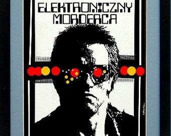 Terminator Poster Polish Version Custom Framed Print A+ Quality