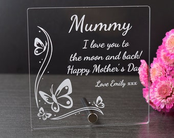 Beautiful Mother's Day Plaque - I Love You To The Moon And Back