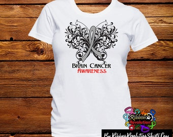Brain Cancer Awareness Butterfly Shirts