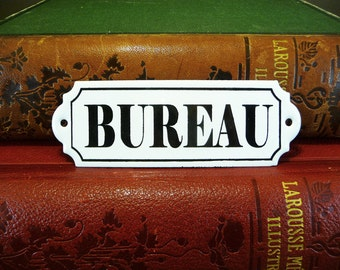 Bibliotheque, french enameled plaque, library sign, parisian atmosphere, retro home decor, french sign, gift for housewarming party