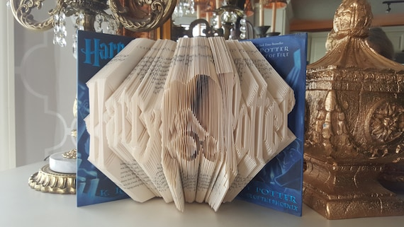 Harry Potter folded book art