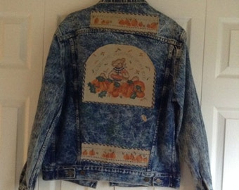 GEORGES-MARCIANO-GUESS-fashion-blue-jean-jacket-sz-medium