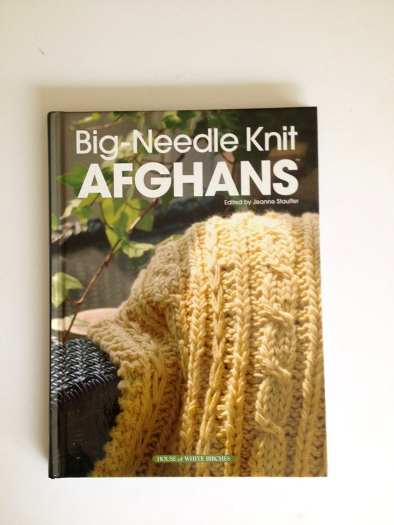 Big Needle Knit Afghans, knitting book, afghan pattern, knit blankets, knit t...