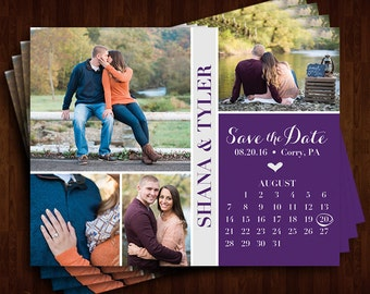 Photo Collage and Calendar Save the Date