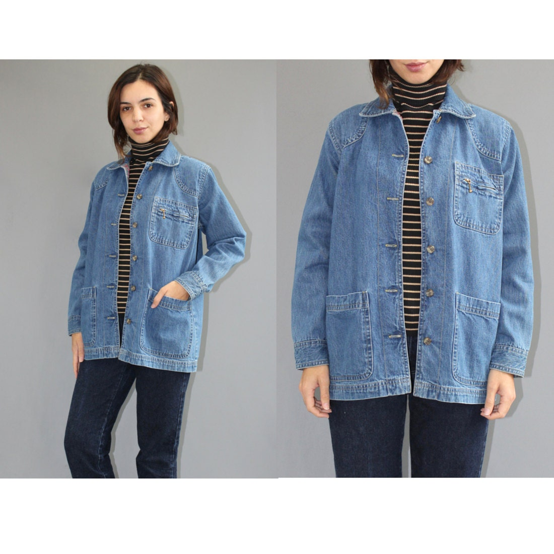 Barn Denim Jacket Small Womens Vintage Denim Jacket Small