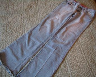 Woman denim bleached, distressed, size FR 36/US 26, low waist, Vintage 1990s