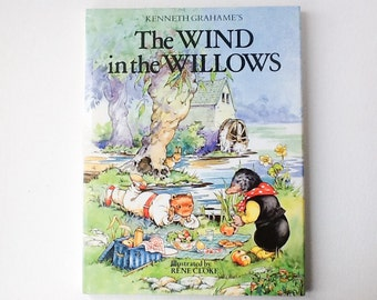 The Wind in the Willows Book by Kenneth Grahame, Illustrated by Rene Cloke, Hardback with Dust Jacket, Award Publications, 1996, 00986