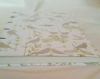 Silver Bird Coptic Bound Journal