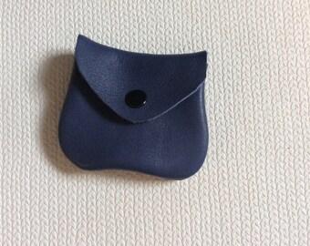 Leather coin purse, small coin purse, tiny coin purse, small coin purse, coin pouch,money purse,genuine leather,coin, leather coin bag, blue