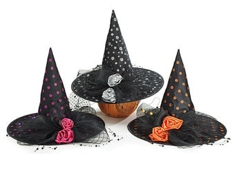 "burton+Burton 6"" Mini Witch Hat's/Wreath Enhancement/Halloween Decor/Witch Hat/9723852"