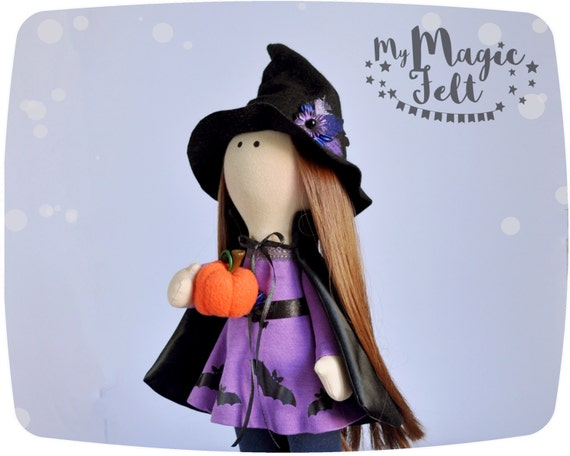 Halloween doll decor Witch Halloween cute doll kids Gift baby - Cute Witch Decorations