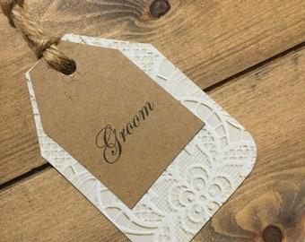 Rustic Wedding Place cards-Unique Place Cards-Wine Glass Name Tags-Rustic Place Cards-Wedding Place Cards- Damask place Cards