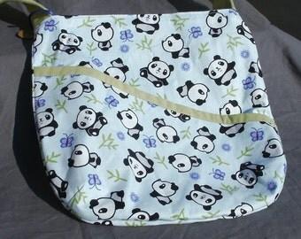 Panda Print Hobo Bag W/ Deep Angled Pocket