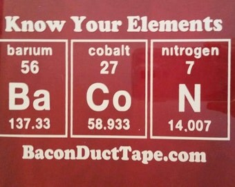 Know Your Elements Vinyl Decal - Car Decal, Laptop Sticker, Bumper Sticker or Window Decal!