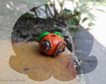 Pumpkin house dreadlock bead