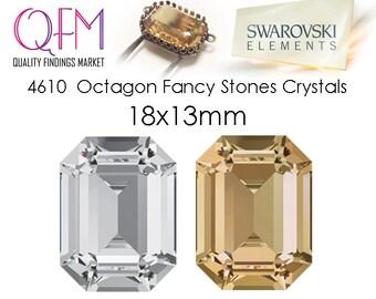 1pc 18x13mm 4610 SWAROVSKI® Undrilled Octagon Fancy Stones