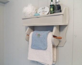 Bathroom Shelf Salle de Bains Towel Rail French Grey Vintage French Vintage Home farmhouse style