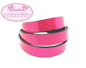1 m leather flat powder pink 15x2mm