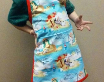 Olaf Crazy for Summer Child's Apron
