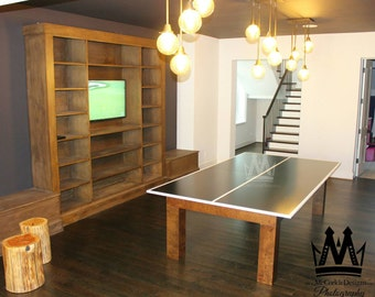 Ping Pong Table Tennis Game With Pingpong Net Made Out Of Select Grade  Birch Natural Stained