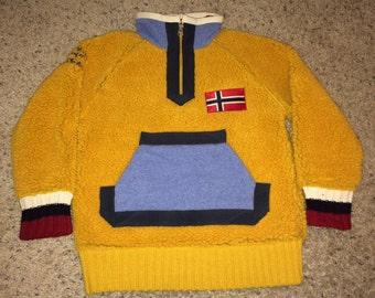 Sale!! Vintage Kids' NAPAPIJRI Geographic Dominion Sweater windbreaker pullover Wool coat jacket Made in ITALY