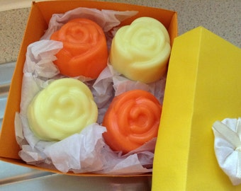 Orange and lemon handmade soap with Shea butter