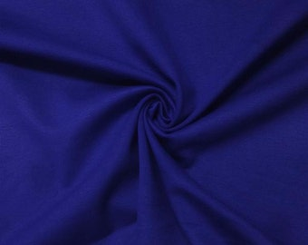 "Ponte De Roma Stretch Knit Fabric Rayon Nylon Spandex Royal Blue 60"" Super Soft By the Yard"