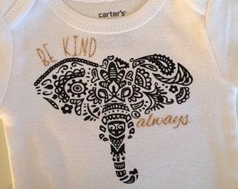 Trendy Elephant Onesie