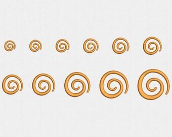 Mini Swirls Machine Embroidery Design - 11 Sizes
