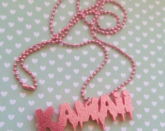 Rose Kawaii Cute Pastel Goth necklace